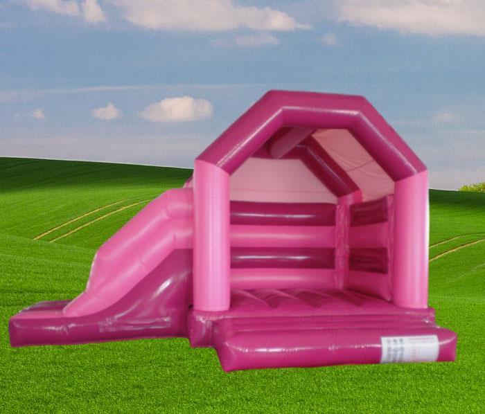 Pink Side Slide Combo Bouncy Castle 1186