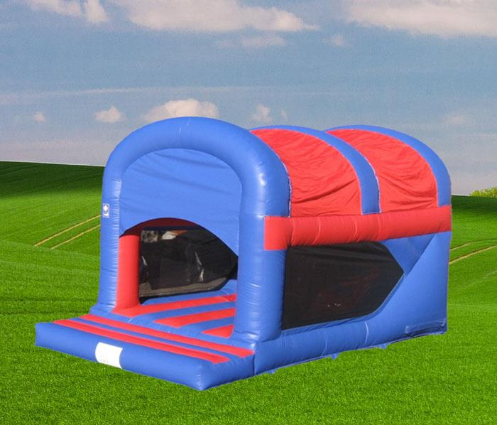 Garden Jump and Rear Slide Red and Blue Bouncy Castle 1162